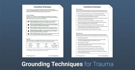 grounding techniques worksheet therapist aid db excelcom