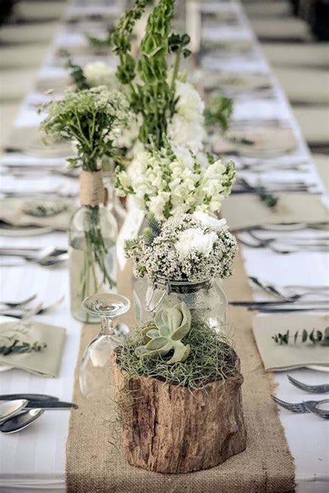 Tischdeko Mit Holz  Kreative Ideen Für Rustikalen Und