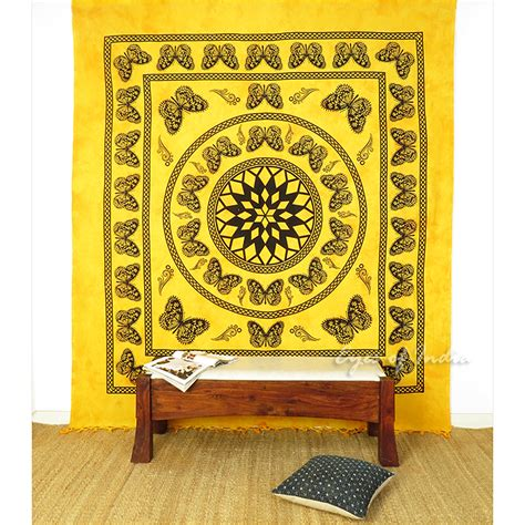 butterfly colorful mandala tapestry bohemian wall hanging
