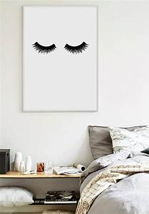 Poster Für Schlafzimmer : lashes scandinavian print bedroom print home poster ~ Watch28wear.com Haus und Dekorationen