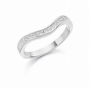womens platinum curved diamond wedding band or eternity With wedding ring or band