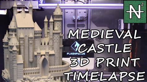 castle 3d medieval printing lapse