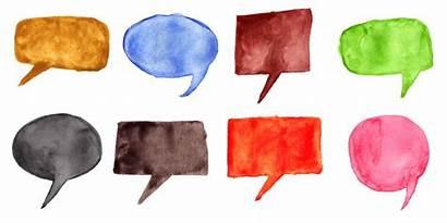 Speech Bubbles Watercolor Transparent Onlygfx