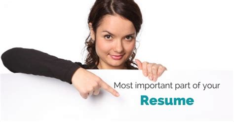 what is the most important part of your resume wisestep