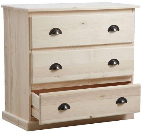 valet de chambre en bois commode 3 tiroirs en bois brut