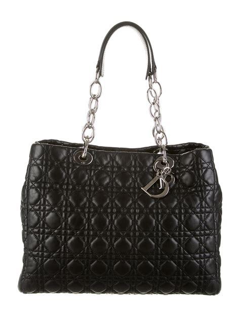 christian dior lady dior soft shopper bag handbags chr  realreal