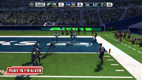 madden  eagles  seahawks  gameplay xbox