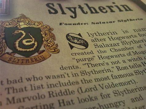 Harry Potter, Slyth, Slytherin