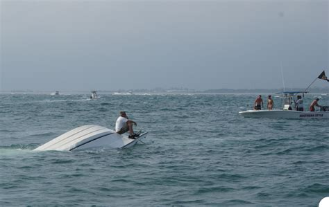 The Boat Capsized capsized boat the hull boating and fishing forum