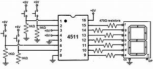 How To Build A 4511 Bcd To 7 Segment Decoder Circuit