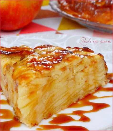 carre cuisine gâteau invisible aux pommes perle en sucre