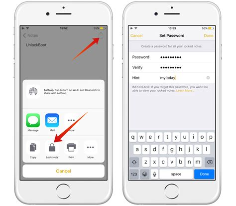 how to use notes on iphone lock notes on iphone with password or touch id