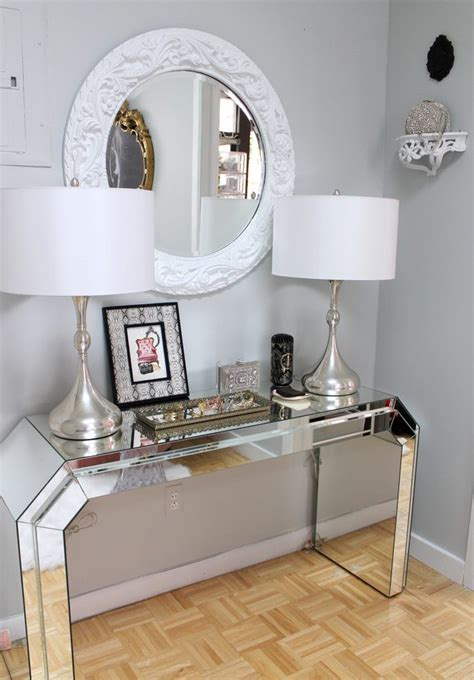 small console table hall eclectic  hallway products