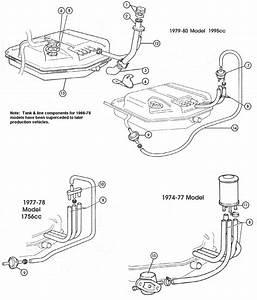 Fiat 124 Fuel Tank  U0026 Lines  U2013 Carburettor Models