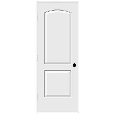 2 panel arch top interior doors jeld wen 30 in x 80 in continental primed right