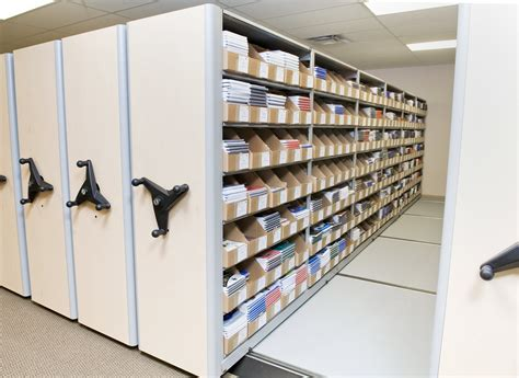 Shelving And Storage Systems by School Datebooks Inc Installs New Datum Storage System To