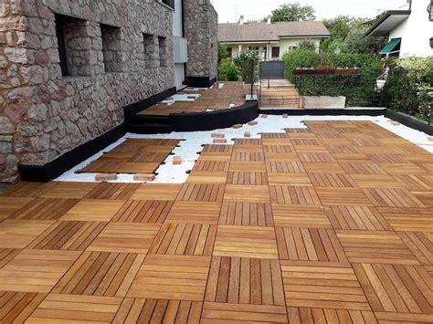 terrazze in legno da esterno posa di un pavimento in legno da esterno a zevio 187 civer