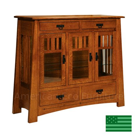 clearwater tall buffet   usa solid wood dining