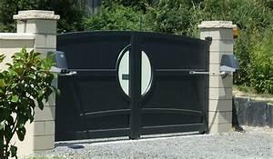 Portail Electrique Battant : portail lectrique aluminium motorisation invisible portail ~ Melissatoandfro.com Idées de Décoration