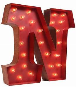 lighted carnival letter quotnquot final sale no returns With lighted letter n
