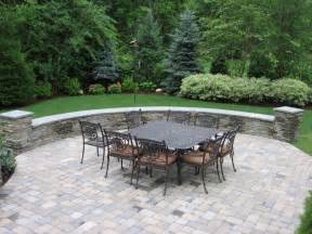 Paver Patio with Stone Walls