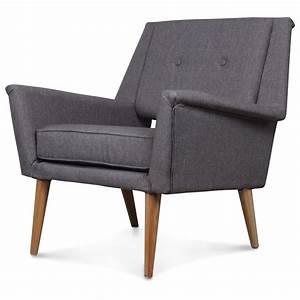 Fauteuil Design Scandinave : fauteuil design scandinave vintage 60 gris retr demeure ~ Melissatoandfro.com Idées de Décoration