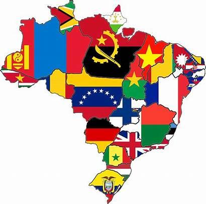 States Brazilian Countries Area According Imgur Mapporn