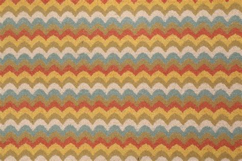 Zig Zag Upholstery Fabric by Zig Zag Tapestry Upholstery Fabric In Clay Pot