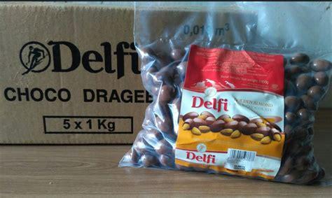 jual coklat delfi kiloan almond kg  lapak tokofauzi