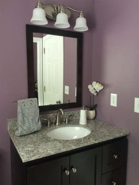 bathroom remodel plum paint granite dark vanity plum