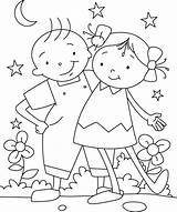 Coloring Friendship Pages sketch template