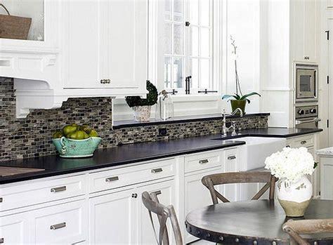 White Cabinets With Black Granite Countertops