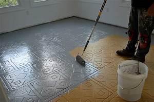 Revetement De Sol Adhesif : peindre carrelage sol super d co ~ Premium-room.com Idées de Décoration