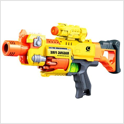 children s gun electric automatic rapid range soft bullet blaster nerf style