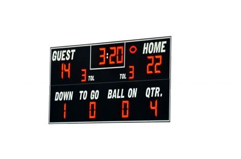 football score board  stock photo public domain pictures