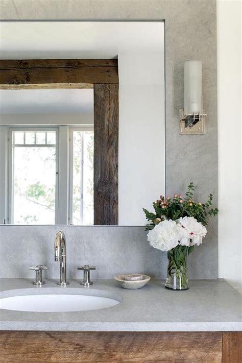 vanity with concrete countertops country bathroom m design