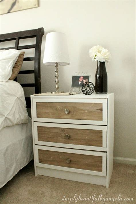 Ikea Nightstand Makeover by Simply Beautiful By Angela Ikea Rast Nightstand Hack