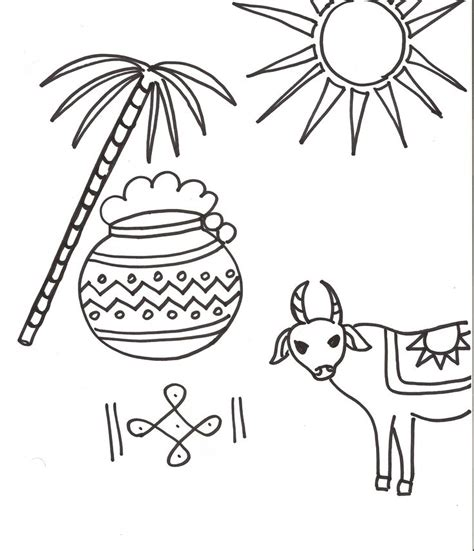 Coloring Foto by Pongal Coloring Page Indian Festivals For