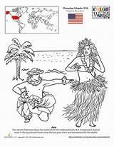 Coloring Hula Pages Dance Worksheets Education Hawaiian Hawaii Dancing Worksheet Printable Sheets Dancer Let Dancers Take Lei Colouring Cross Printables sketch template