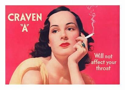 Craven Ads Cigarette Past Retro Advertising Evil