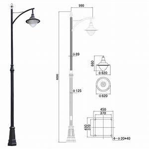 Decorative 6m Outdoor Street Light Poles    Garden Lamp Post