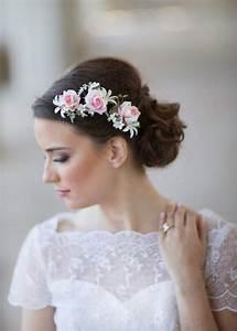 Pink Wedding Flower Bridal Hair Accessories 2228563