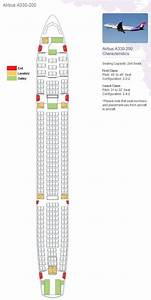 Hawaiian Airlines Aircraft Airbus A330 Configuration Seating Map