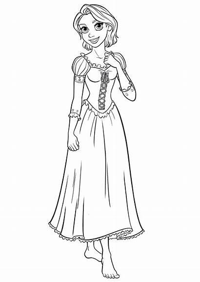 Rapunzel Coloring Disney Pages Princess Walt Characters