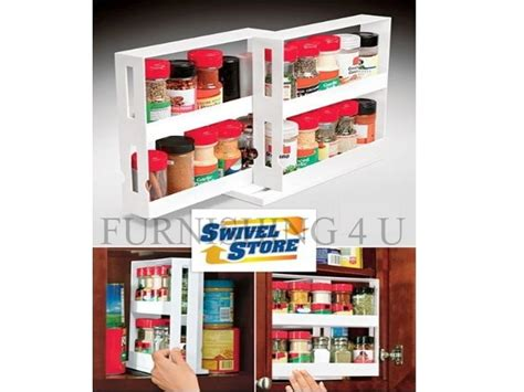 Swivel Store Spice Rack by New Swivel Store Spice Bottles Kitchen Shelf Tidy Holder