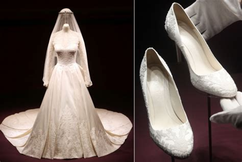 Kate Middleton's Wedding Dress And Shoes Are Now On