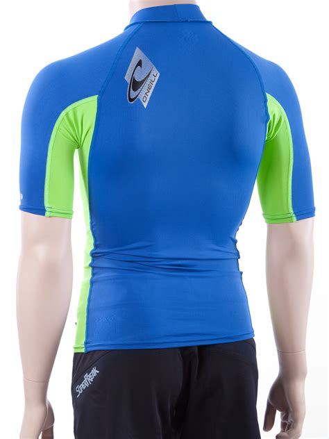 oneill mens short sleeve rashguard lycra swim shirt
