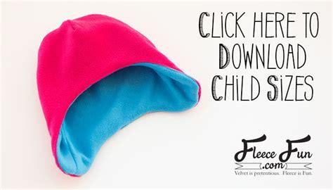 Fleece Hat Template by Fleece Hat With Ear Flaps Pattern Free With Tutorial