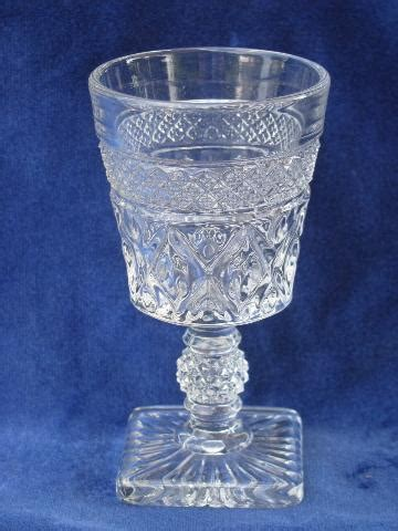 Imperial Glass Cape Cod Pattern Wine Glasses, Set Of 8