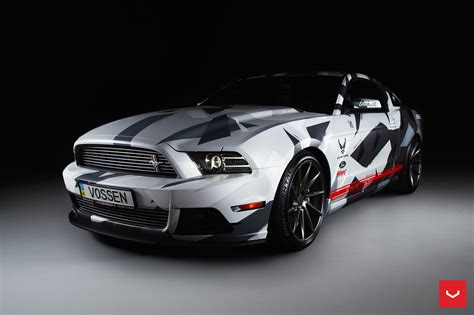 mustang gt custom painted to match the racing pedigree carid